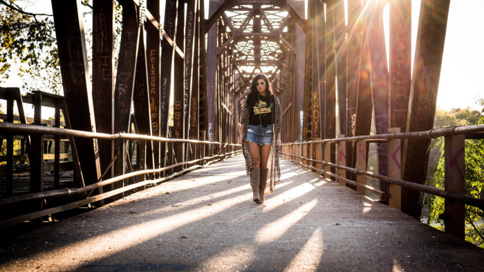Candice Green Pretty Heart Video on bridge